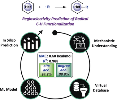 Predicting Regioselectivity in Radical C−H Functionalization of Heterocycles through Machine Learning