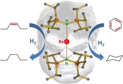 Highly Active Superbulky Alkaline Earth Metal Amide Catalysts for Hydrogenation of Challenging Alkenes and Aromatic Rings