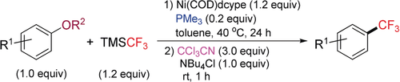 Nickel‐Mediated Trifluoromethylation of Phenol Derivatives by Aryl C−O Bond Activation