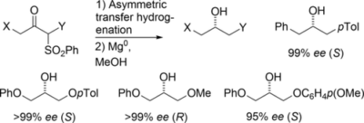 Sulfone Group as a Versatile and Removable Directing Group for Asymmetric Transfer Hydrogenation of Ketones