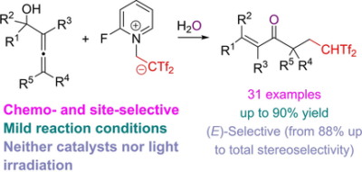 Trifluorosulfonylation Cascade in Allenols: Stereocontrolled Synthesis of Bis(triflyl)enones
