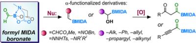Formyl MIDA Boronate: C1 Building Block Enables Straightforward Access to α‐Functionalized Organoboron Derivatives