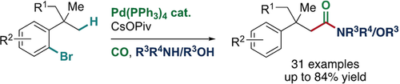 Synthesis of Amides and Esters by Palladium(0)‐Catalyzed Carbonylative C(sp3)−H Activation