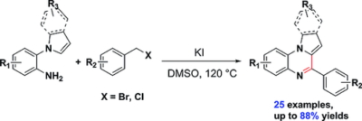 KI‐Mediated One‐Pot Transition‐Metal‐Rree Synthesis of 4‐Phenylpyrrolo[1,2‐a]quinoxalines