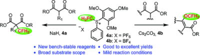 Bench‐Stable S‐(Monofluoromethyl)sulfonium Salts: Highly Efficient C‐ and O‐Regioselective Monofluoromethylation of 1,3‐Dicarbonyl Compounds