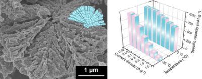Pseudocapacitive Lithium Storage of Cauliflower‐Like CoFe2O4 for Low‐Temperature Battery Operation