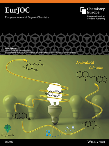 Front Cover: Continuous Flow Synthesis of Quinolines via a Scalable Tandem Photoisomerization‐Cyclization Process (Eur. J. Org. Chem. /2020)