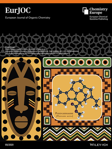 Front Cover: Bioinspired Divergent Oxidative Cyclizations of Geissoschizine: Total Synthesis of (–)‐17‐nor‐Excelsinidine, (+)‐16‐epi‐Pleiocarpamine, (+)‐16‐Hydroxymethyl‐Pleiocarpamine and (+)‐Taberdivarine H (Eur. J. Org. Chem. /2020)