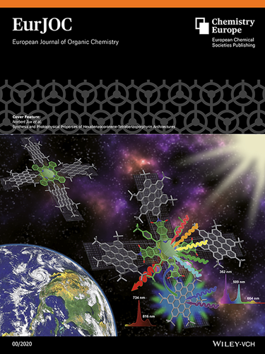 Cover Feature: Synthesis and Photophysical Properties of Hexabenzocoronene‐Tetrabenzoporphyrin Architectures (Eur. J. Org. Chem. /2020)