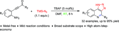 TBAF‐Catalyzed Tandem Synthesis of Triazolo[4,5‐c]quinolines at Ambient Temperature