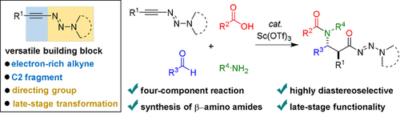 Triazenyl Alkynes as Versatile Building Blocks in Multicomponent Reactions: Diastereoselective Synthesis of β‐Amino Amides