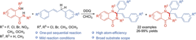 2,3‐Dichloro‐5,6‐dicyano‐1,4‐benzoquinone (DDQ)‐Mediated Tandem Oxidative Annulation for Preparing 2,2‐Disubstituted 2,3‐Dihydroquinazolin‐4(1H)‐ones