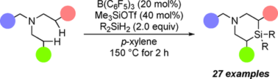 Consecutive β,β′‐Selective C(sp3)−H Silylation of Tertiary Amines with Dihydrosilanes Catalyzed by B(C6F5)3