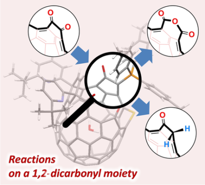 Reactions on a 1,2‐Dicarbonyl Moiety of a Fullerene Skeleton