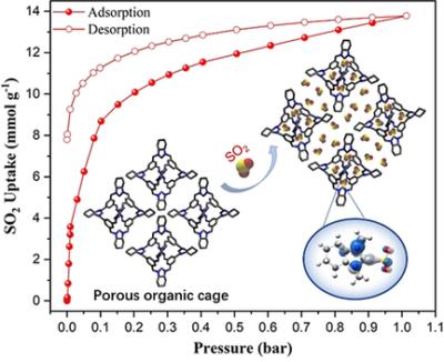 SO2 Capture Using Porous Organic Cages
