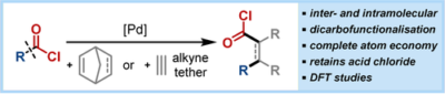 Catalytic Carbochlorocarbonylation of Unsaturated Hydrocarbons via C−COCl Bond Cleavage**
