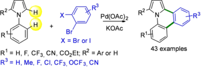 One-Pot Synthesis of Pyrrolo[1,2-f]phenanthridines From 1-Arylpyrroles via Successive Palladium-Catalyzed Direct Arylations